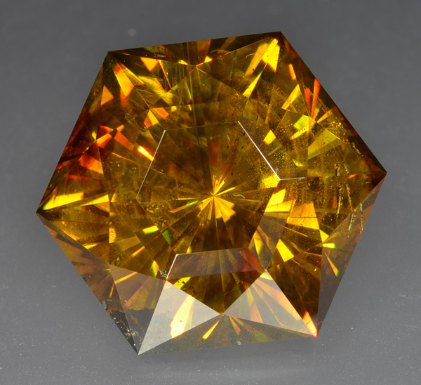 faceted sphalerite