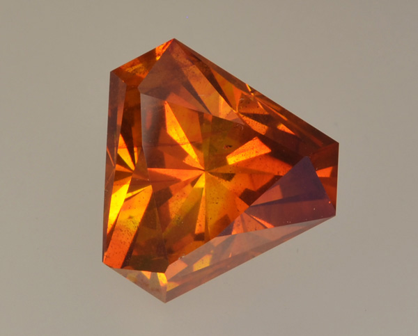 Faceted spanish sphalerite