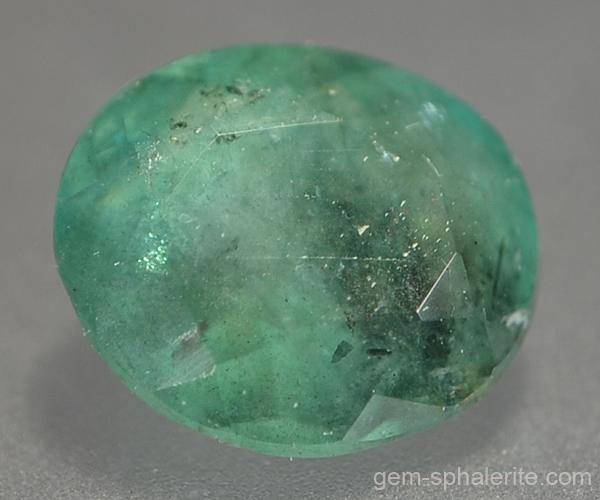 gem sphalerite emerald biotite inclusions 0 85ct 35