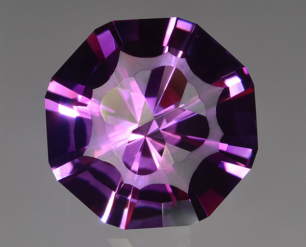 Precision cut amethyst